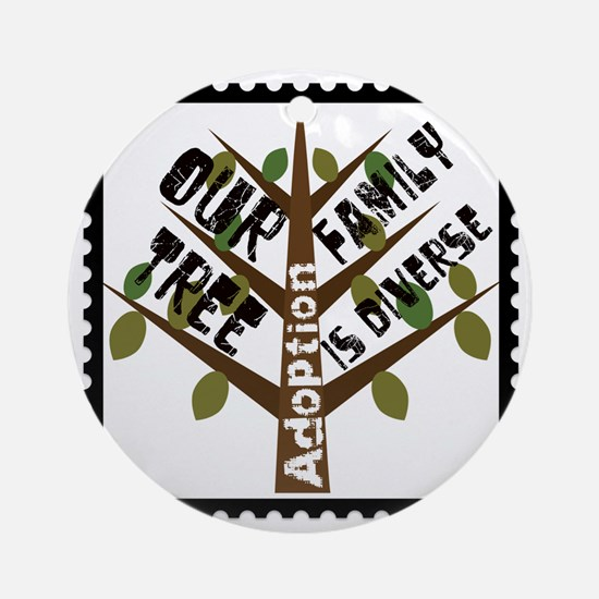 DiverseCafePress Round Ornament