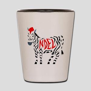 Christmas Noel Zebra Shot Glass