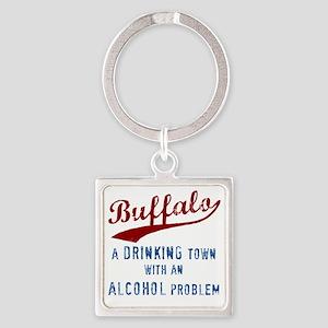 Buffalo Drinks Square Keychain