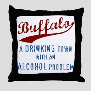 Buffalo Drinks Throw Pillow