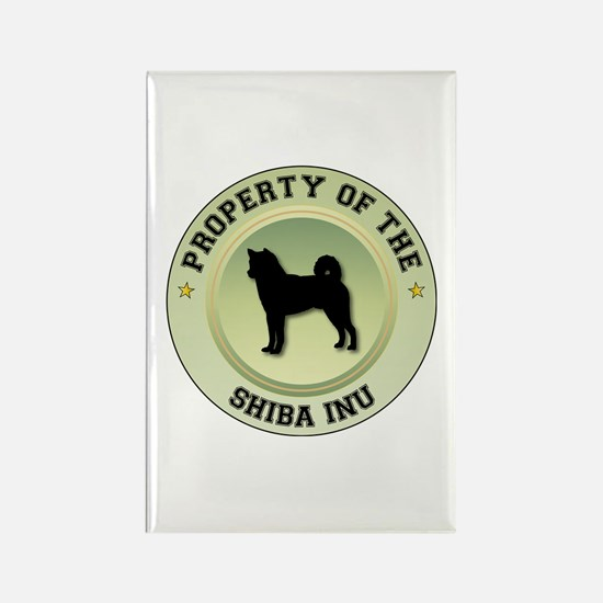 Shiba Inu Property Rectangle Magnet