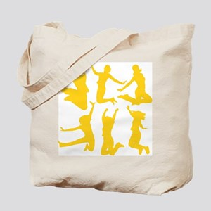 yellow dancing girls Tote Bag