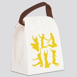 yellow dancing girls Canvas Lunch Bag