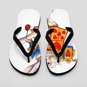 ALICE_WHITE RABBIT_FINAL copy Flip Flops