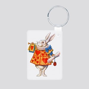 ALICE_WHITE RABBIT_FINAL c Aluminum Photo Keychain