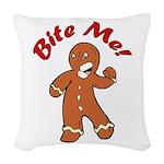 Bite Me Woven Throw Pillow