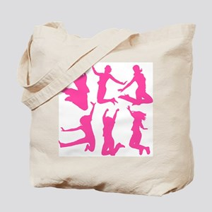 pink dancing girls Tote Bag