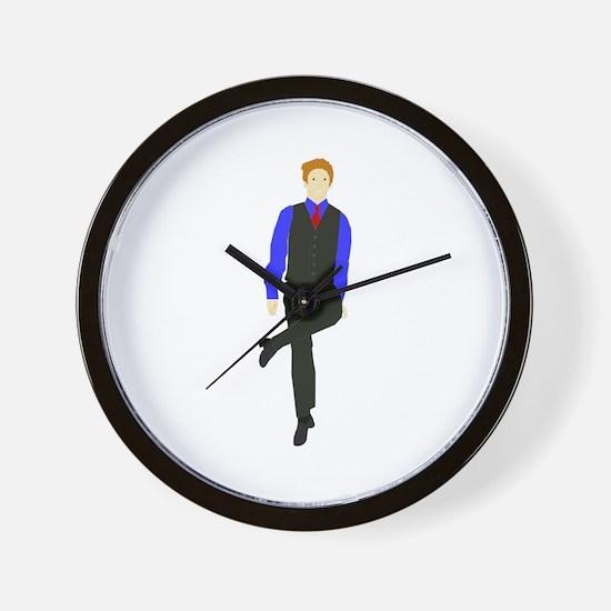 WhyDoI_10x10_DARK_apparel Wall Clock