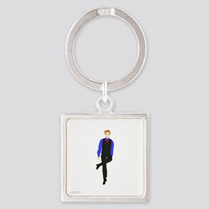 WhyDoI_10x10_DARK_apparel Square Keychain