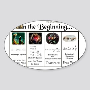 In the Beginning copy Sticker (Oval)