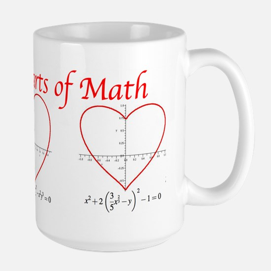 Heart Curves Large Mug
