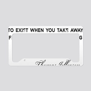 Jefferson-Democracy-(white-sh License Plate Holder