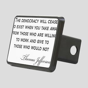 Jefferson-Democracy-(white Rectangular Hitch Cover