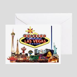 Vegas Nite Lites Greeting Card