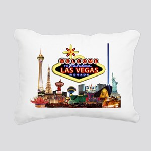 Vegas Nite Lites Rectangular Canvas Pillow