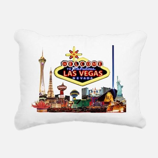 Vegas Nite Lites Rectangular Canvas Pillow