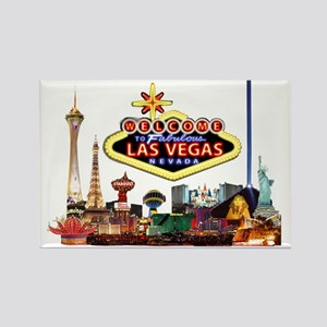 Vegas Nite Lites Rectangle Magnet
