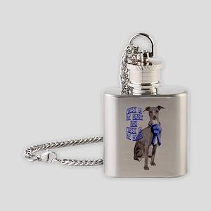 italian_greyhound_first _dog2 Flask Necklace