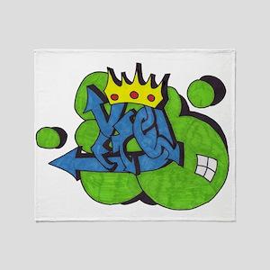 graffitti crown Throw Blanket