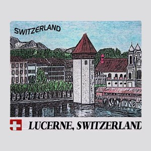lucerne small print Throw Blanket
