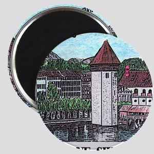 lucerne small print Magnet