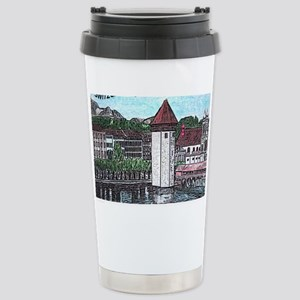 lucerne small print Stainless Steel Travel Mug