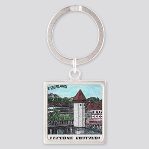 lucerne small print Square Keychain