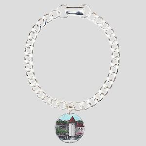lucerne small print Charm Bracelet, One Charm