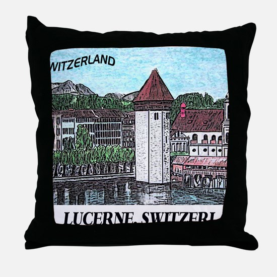 lucerne small print Throw Pillow