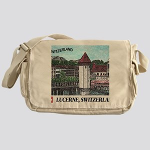 lucerne small print Messenger Bag