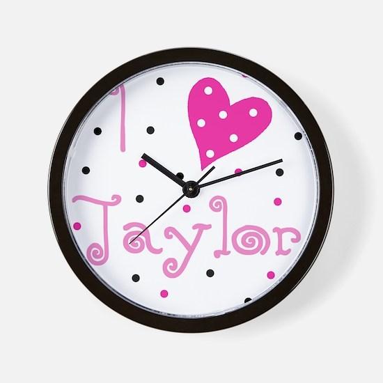 i_luv_taylor Wall Clock