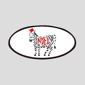 Christmas Noel Zebra Patch