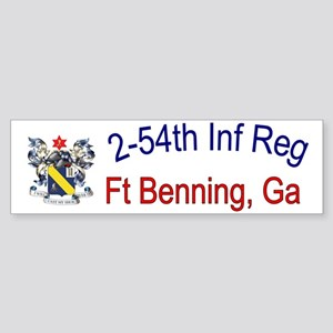 2nd Bn 54th Inf cap Sticker (Bumper)