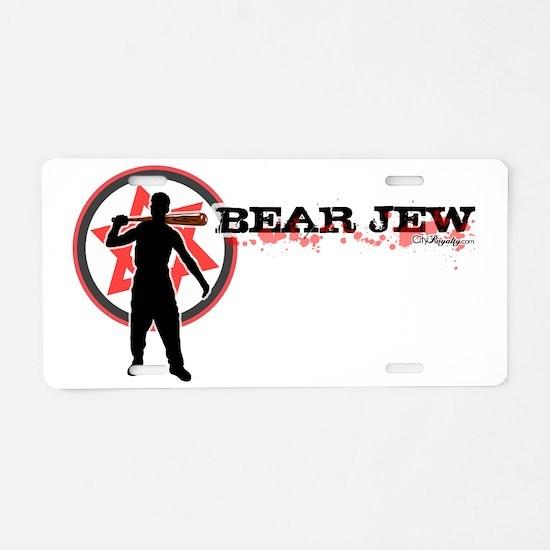 Bear Jew Aluminum License Plate