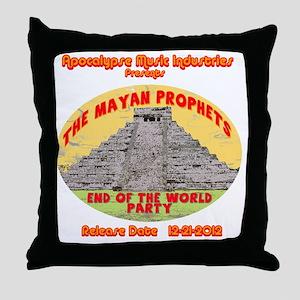 Rev-MayanProphetEnd Throw Pillow