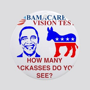 Obama Care Round Ornament