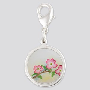 LiJia Pink Dogwood Blossoms Charms