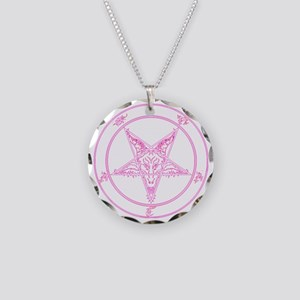 baphomet-pink Necklace Circle Charm