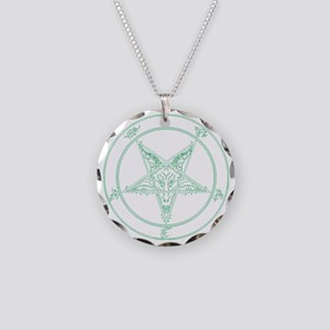 baphomet-green Necklace Circle Charm