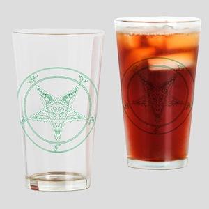 baphomet-green Drinking Glass