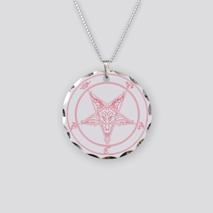 baphomet-red Necklace Circle Charm