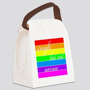 straightbutnot Canvas Lunch Bag