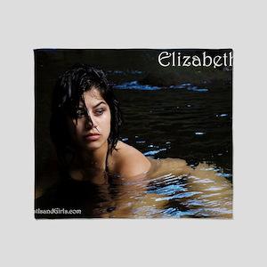 lizprint1TEXT Throw Blanket