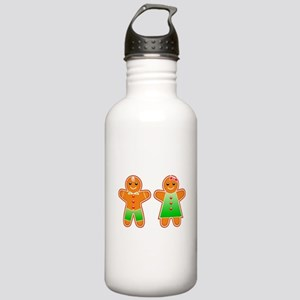 Gingerbread Couple Stainless Water Bottle 1.0L