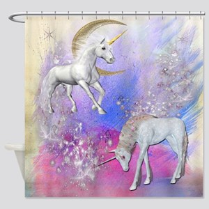 Unicorn Fantasy Sky Shower Curtain