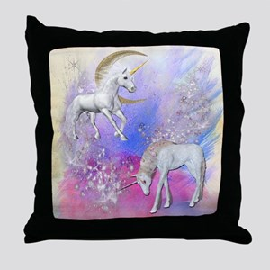 Unicorn Fantasy Sky Throw Pillow