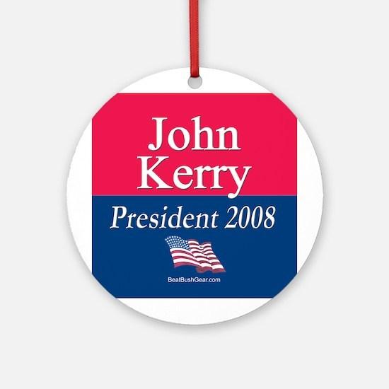 """John Kerry for President"" Ornament (Round)"