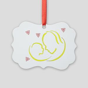 BWtshirtcolorsdk Picture Ornament