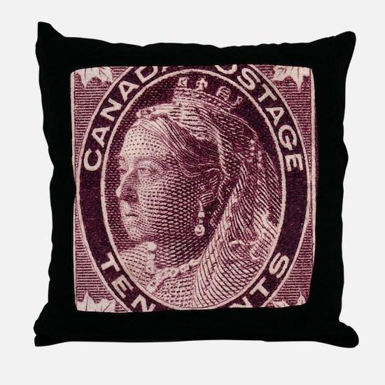 canada-qv-maple-10d Throw Pillow