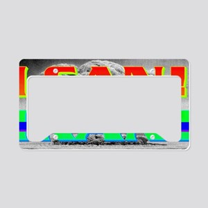 I CANxIRAN(small framed print License Plate Holder
